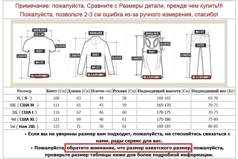 Размер куртки