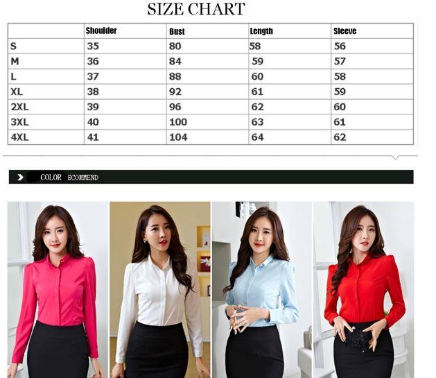 размеры блузок