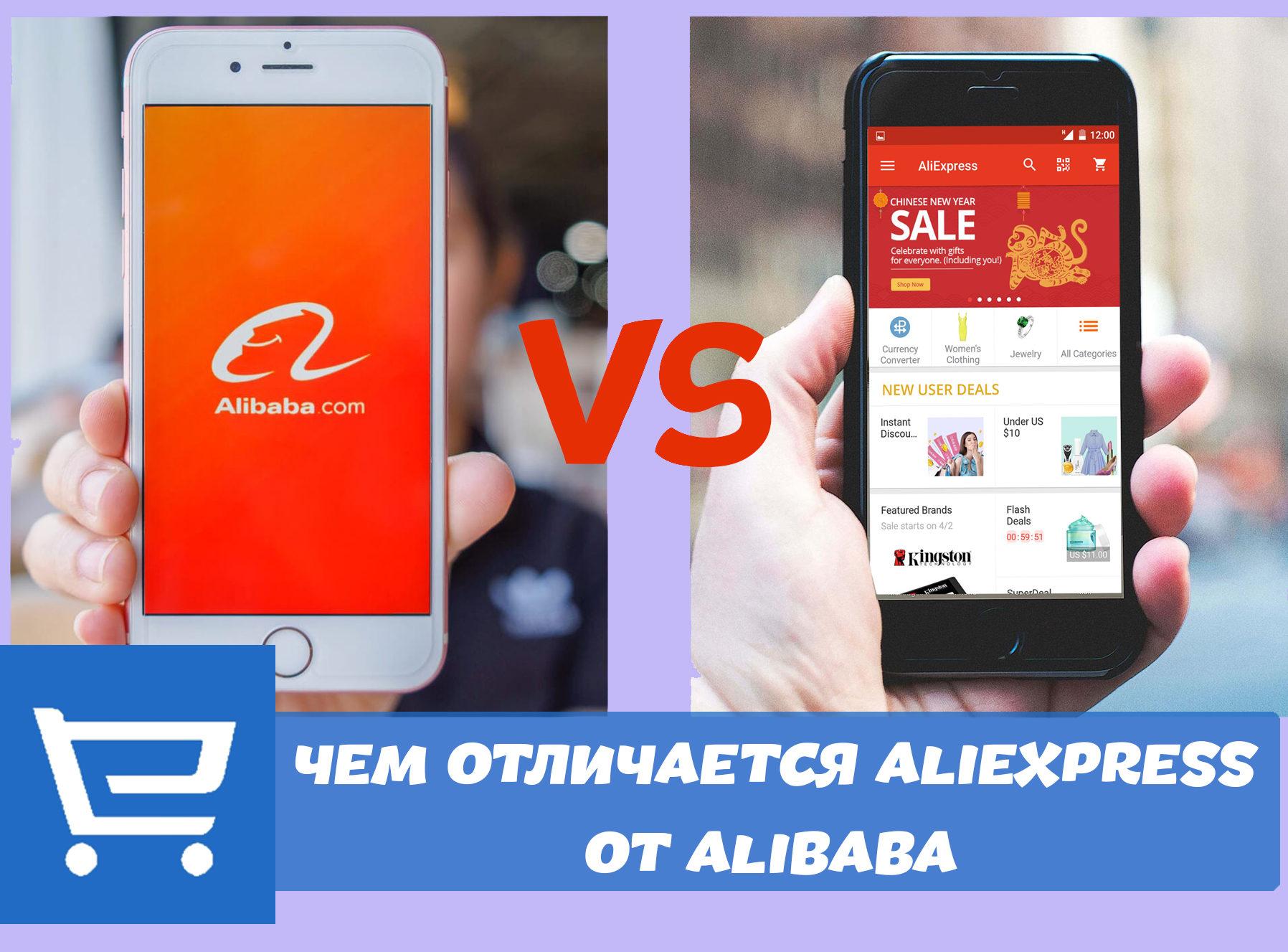 Чем отличается AliExpress от Alibaba